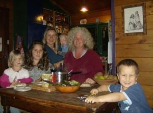 Julie, Mirian and kids.