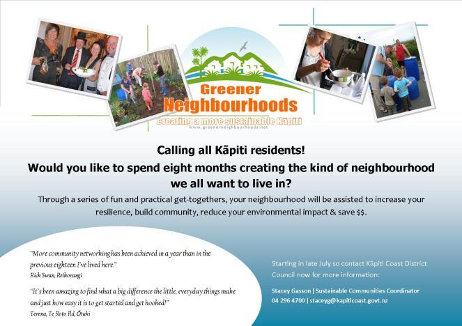 Greener Neighbourhoods e-flier 2014