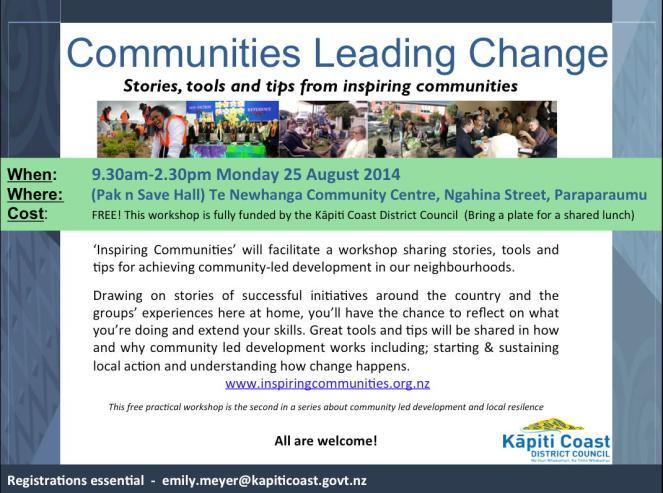 Community led development workshop